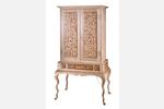 """Prince Albert"" Custom Inlaid Parquetry Highboy Cabinet"